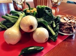The veggies.